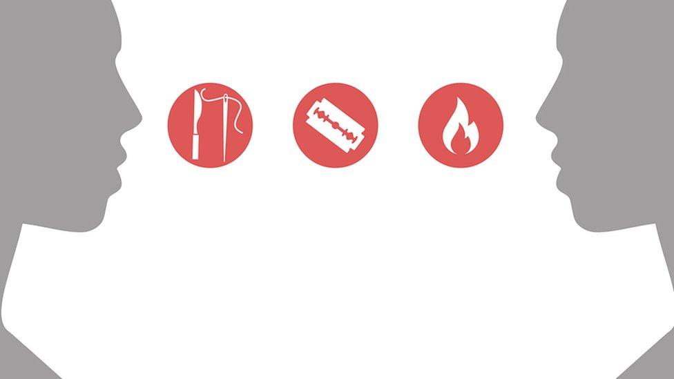 penusukan, penorehan, penggoresn atau pembakaran .