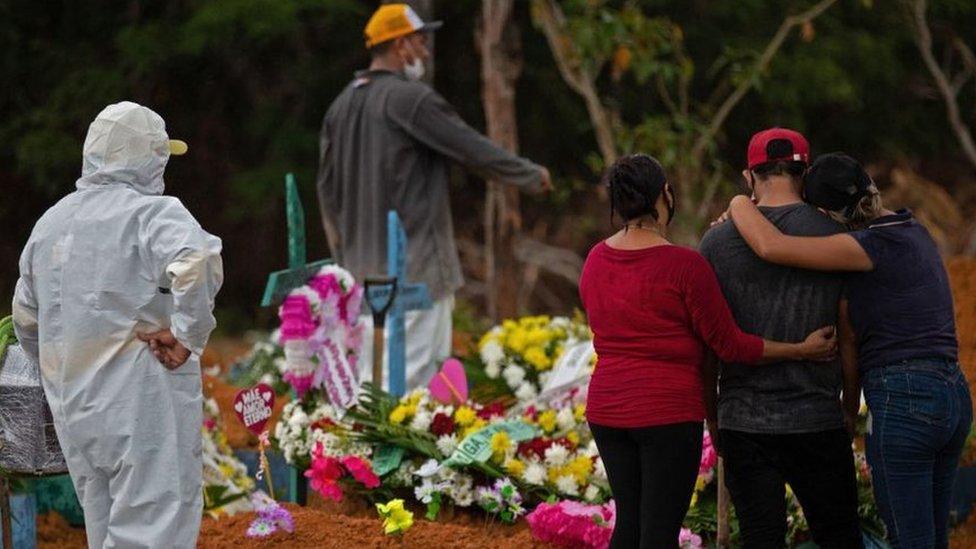 Brezilya'da Covid ölümleri