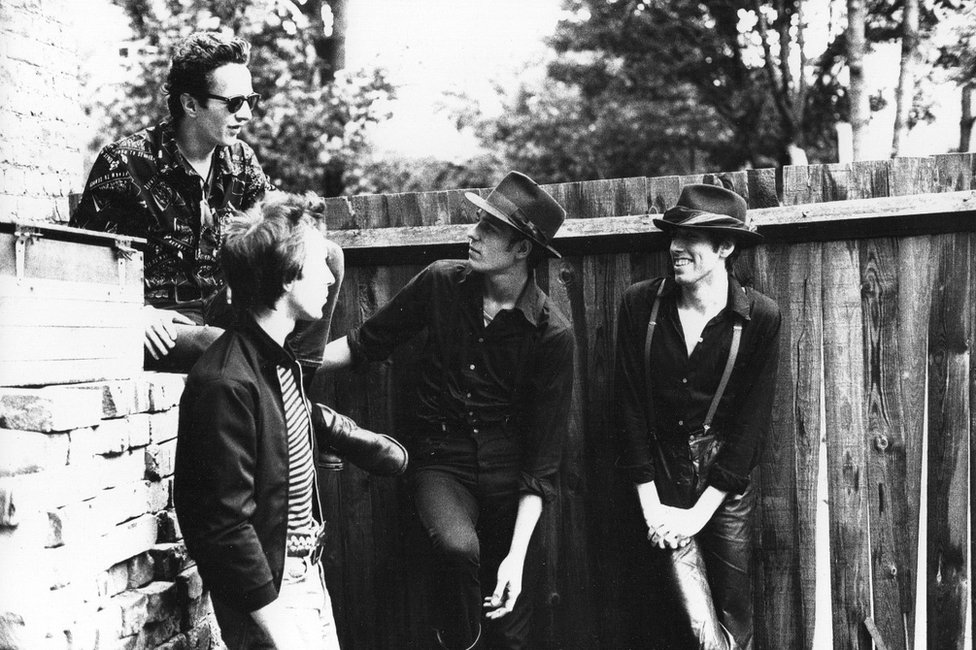 The Clash outside Wessex Studios