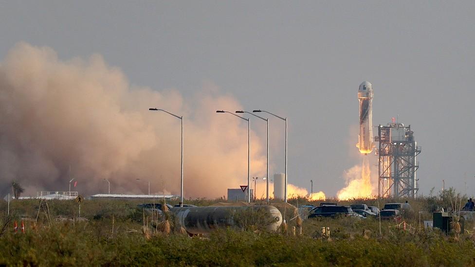Lanzamiento del cohete Blue Origin