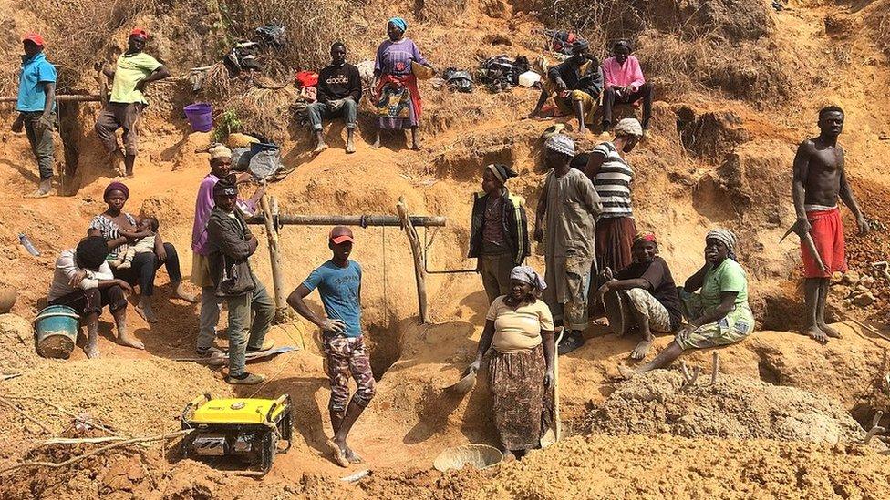Tin miners in Barkin Ladi