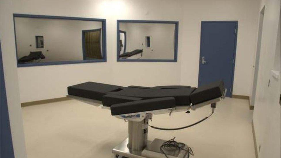 Photo of Nevada execution chamber