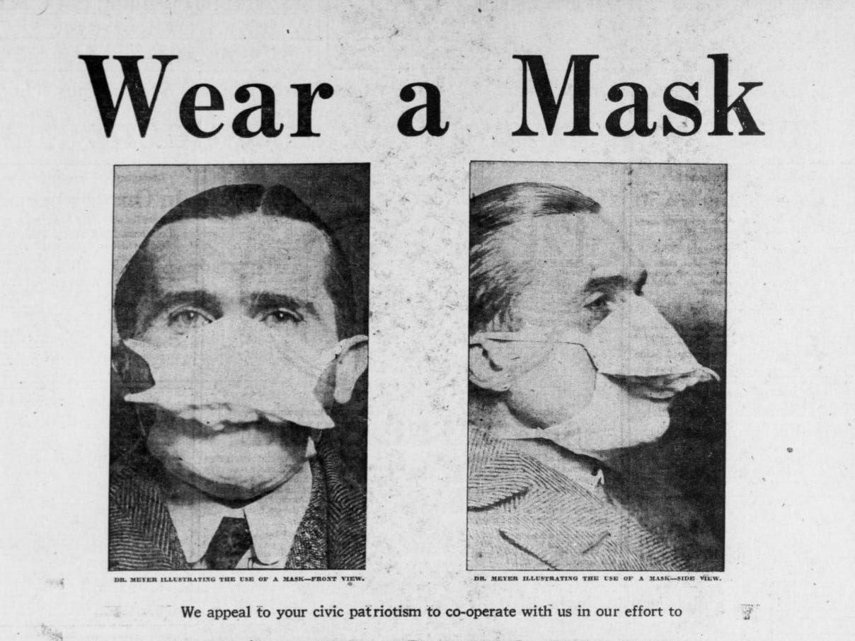 Kampanja za nošenje maski tokom epidemije gripa 1918. u SAD