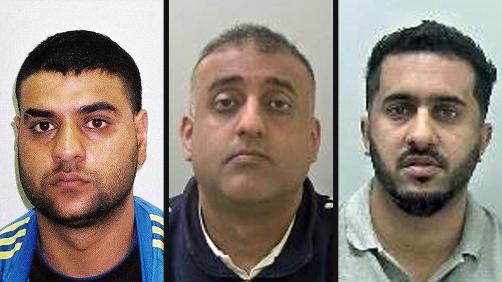 (L-R) Mohammed Ali Sultan, Mohammad Rizwan and Amjad Hussain