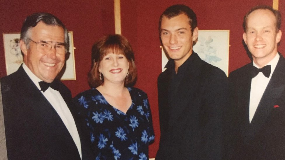 The Cameron family with Jude Law