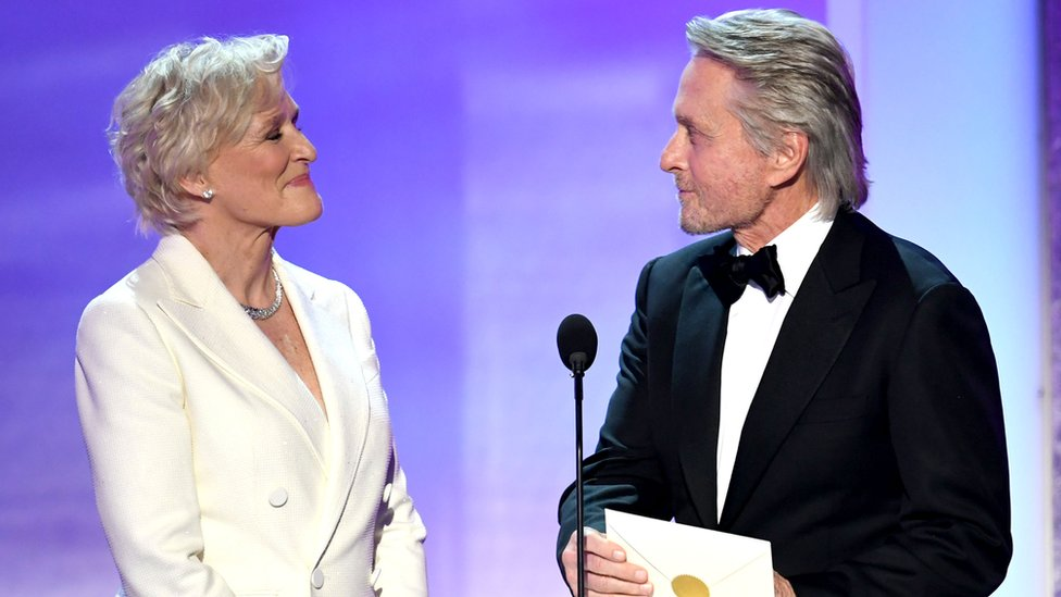 Glenn Close y Michael Douglas