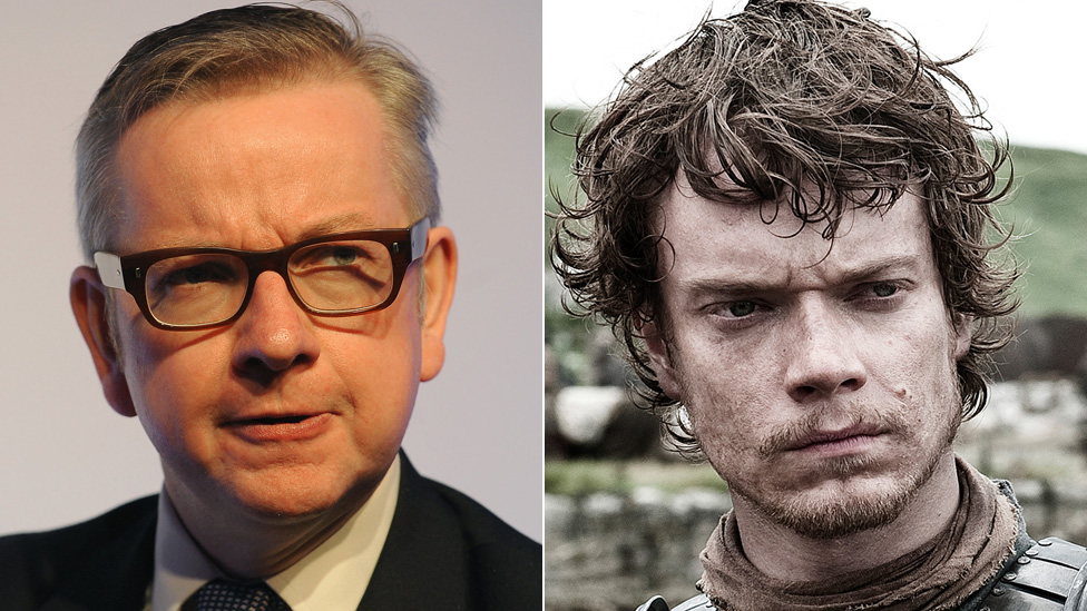 Michael Gove and Theon Greyjoy