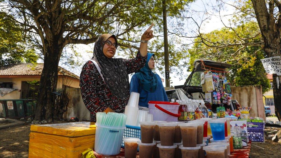 Siti Ain con su mamá