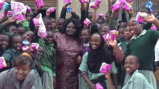 Diana Okello and school girls