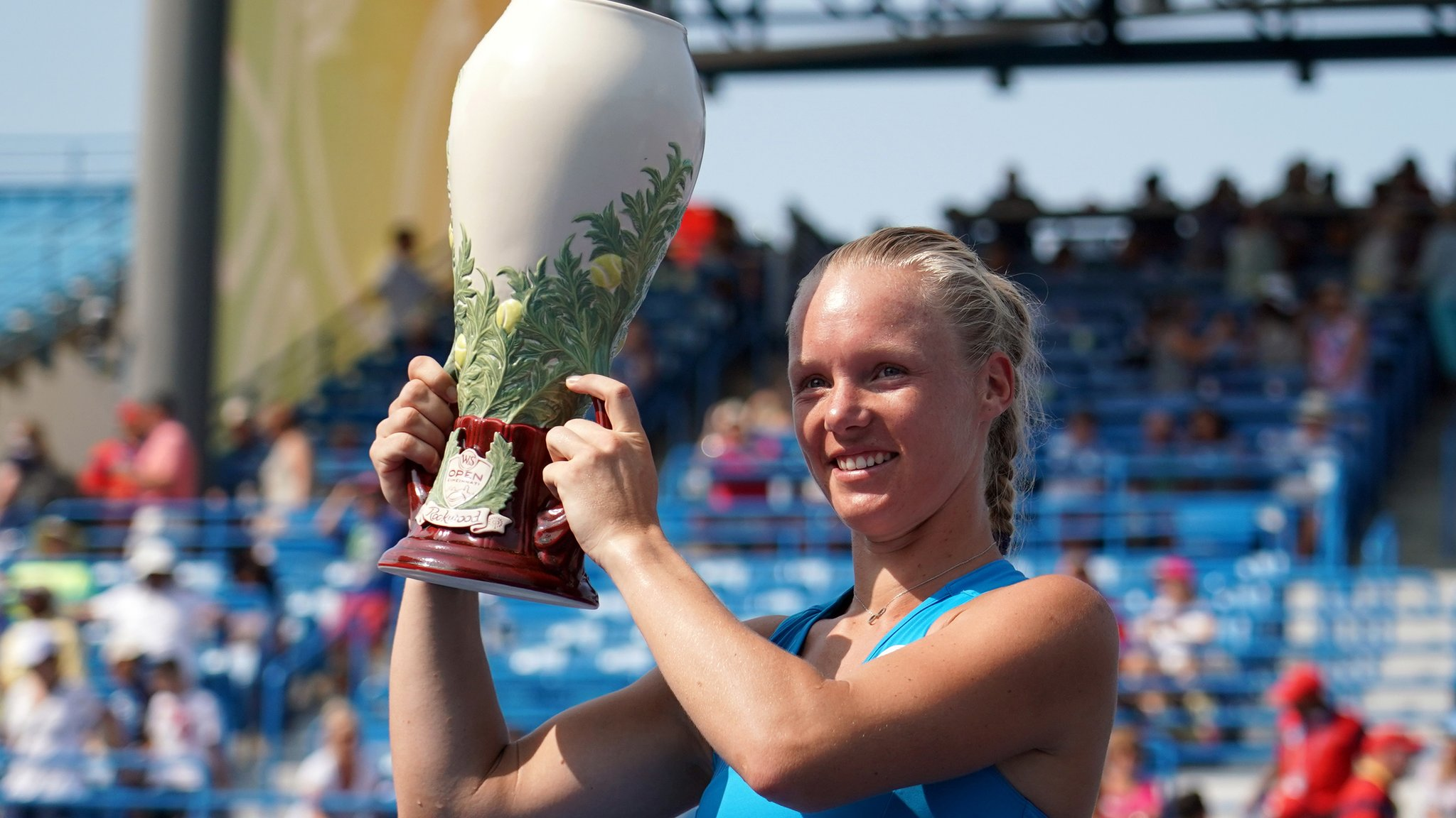 Bertens upsets world number one Halep to win in Cincinnati