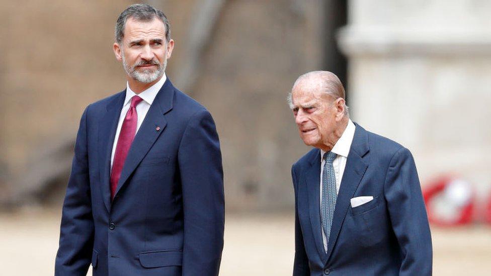 Felipe VI y el príncipe Felipe
