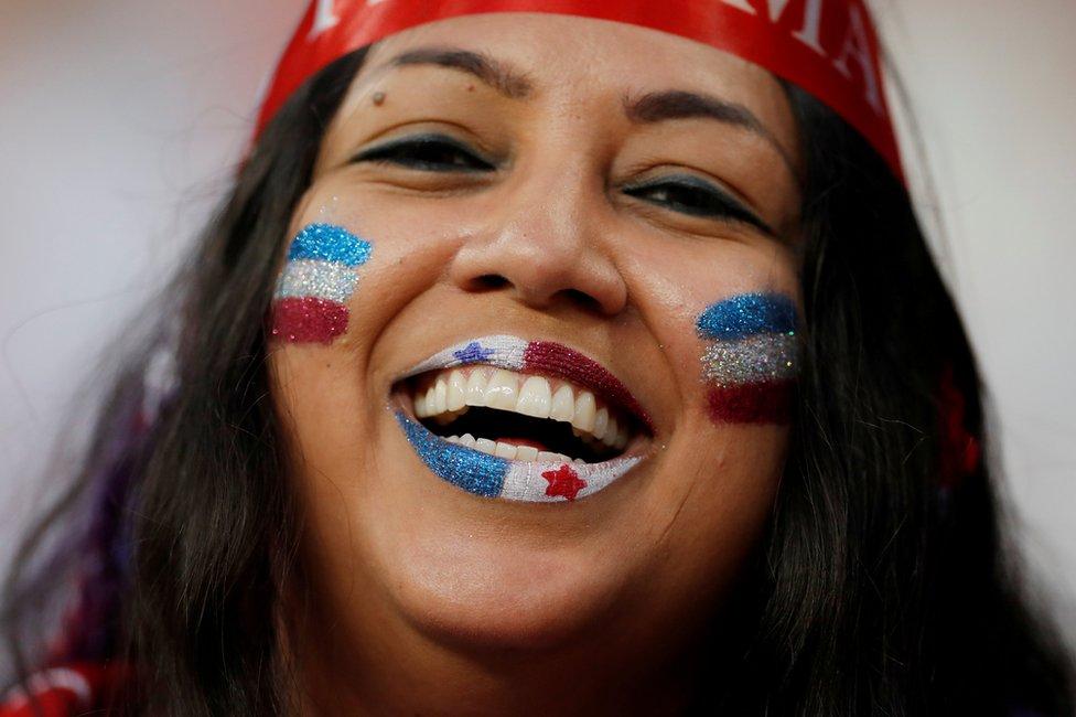 A Panama fan inside the stadium before the Panama v Tunisia match at Mordovia Arena, Saransk, Russia June 28, 2018