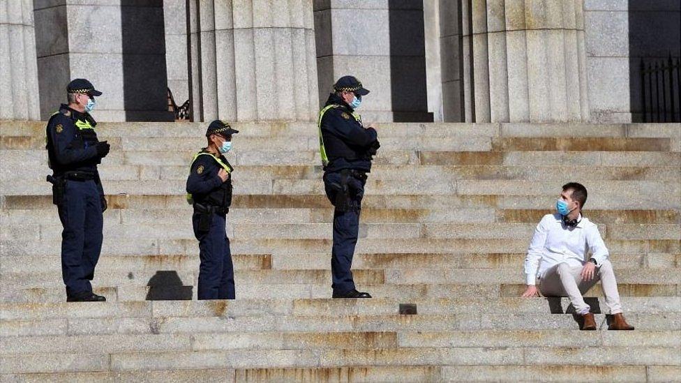 Policías australianos