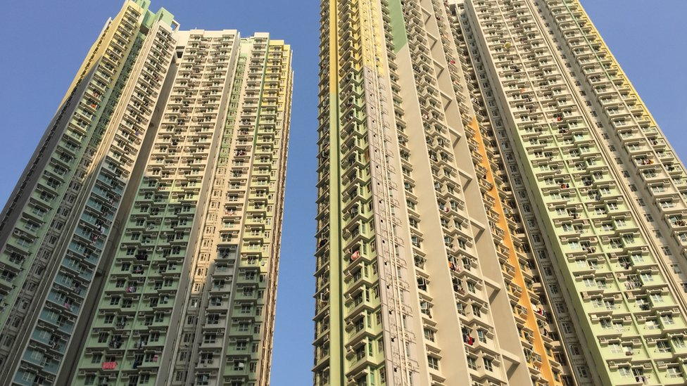 One of Hong Kong's newer public housing estates in Kowloon