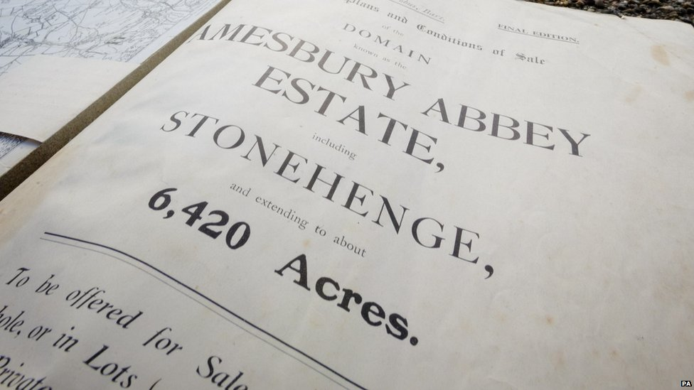 Stonehenge auction brochure from 1915