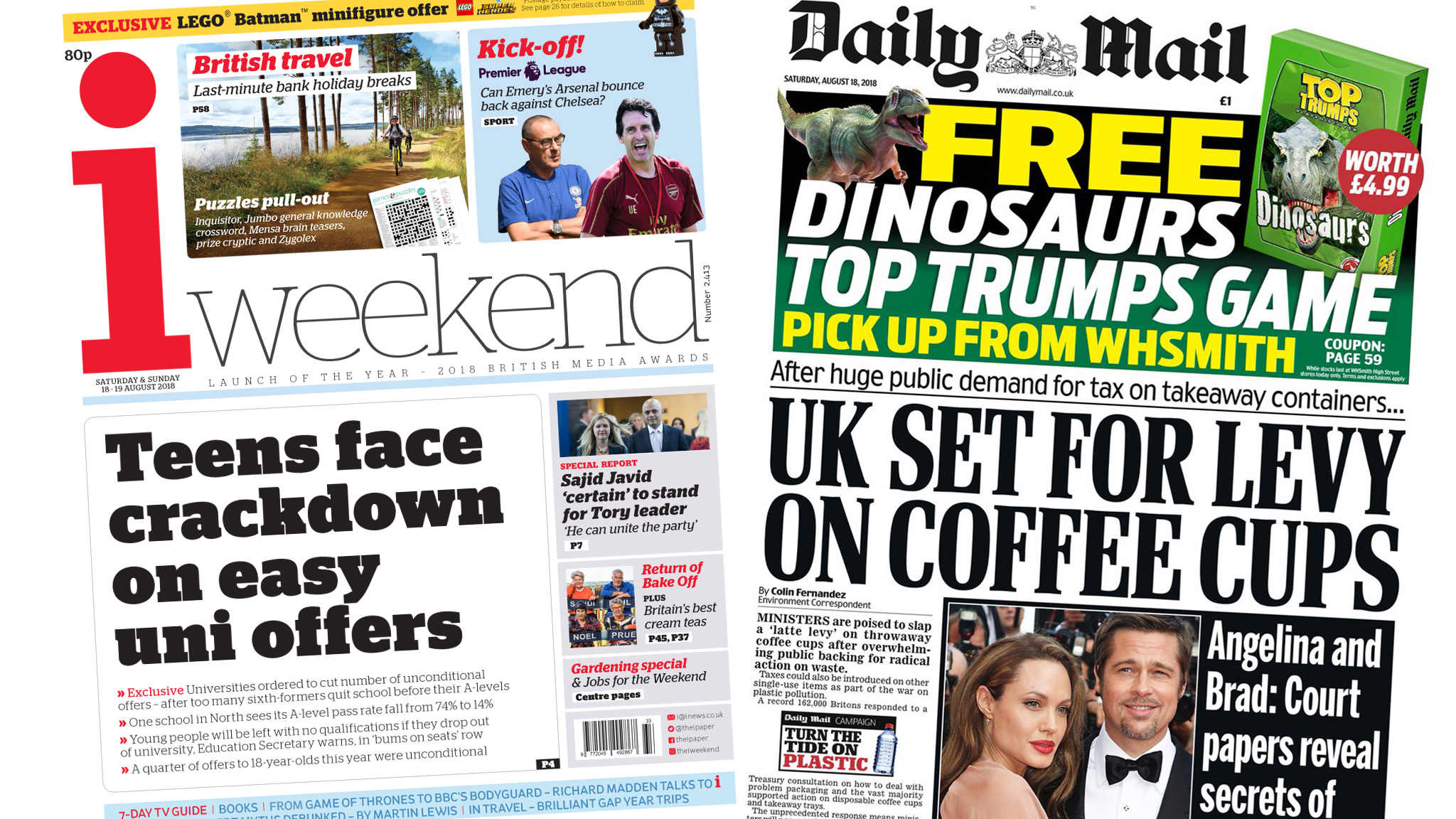 Newspaper headlines: University 'crackdown' and a coffee cup levy