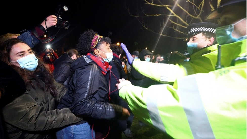 Clashes at Clapham Common