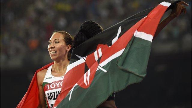 Belarus athlete Marina Arzamasova