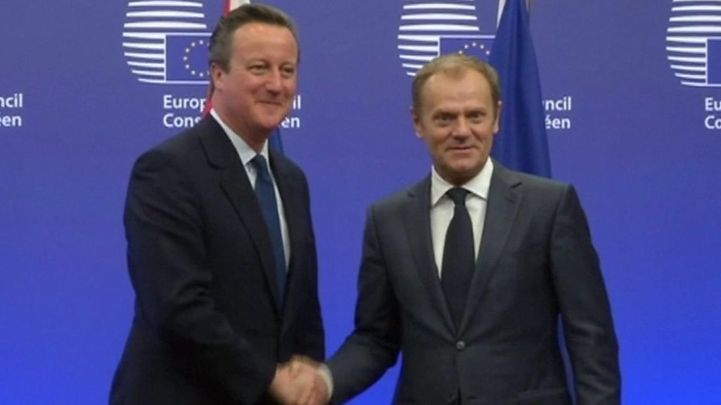 Brexit: Cameron told me 'no risk of referendum', says Tusk