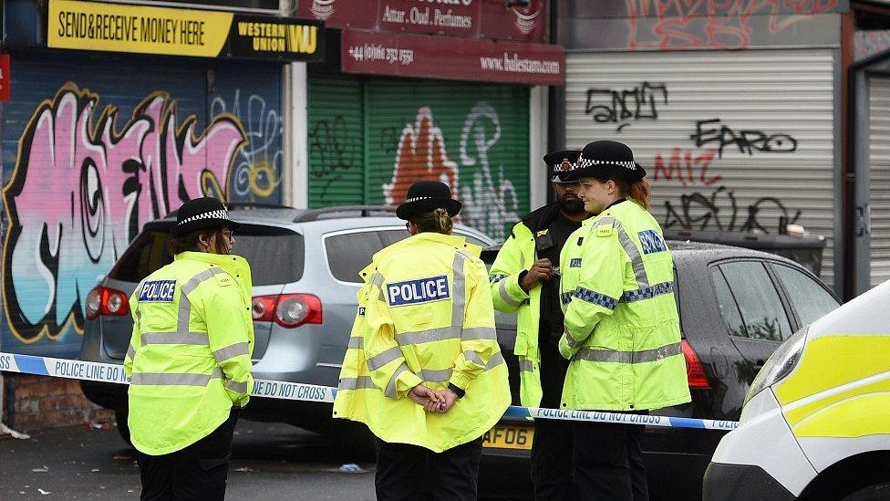 police outside shop