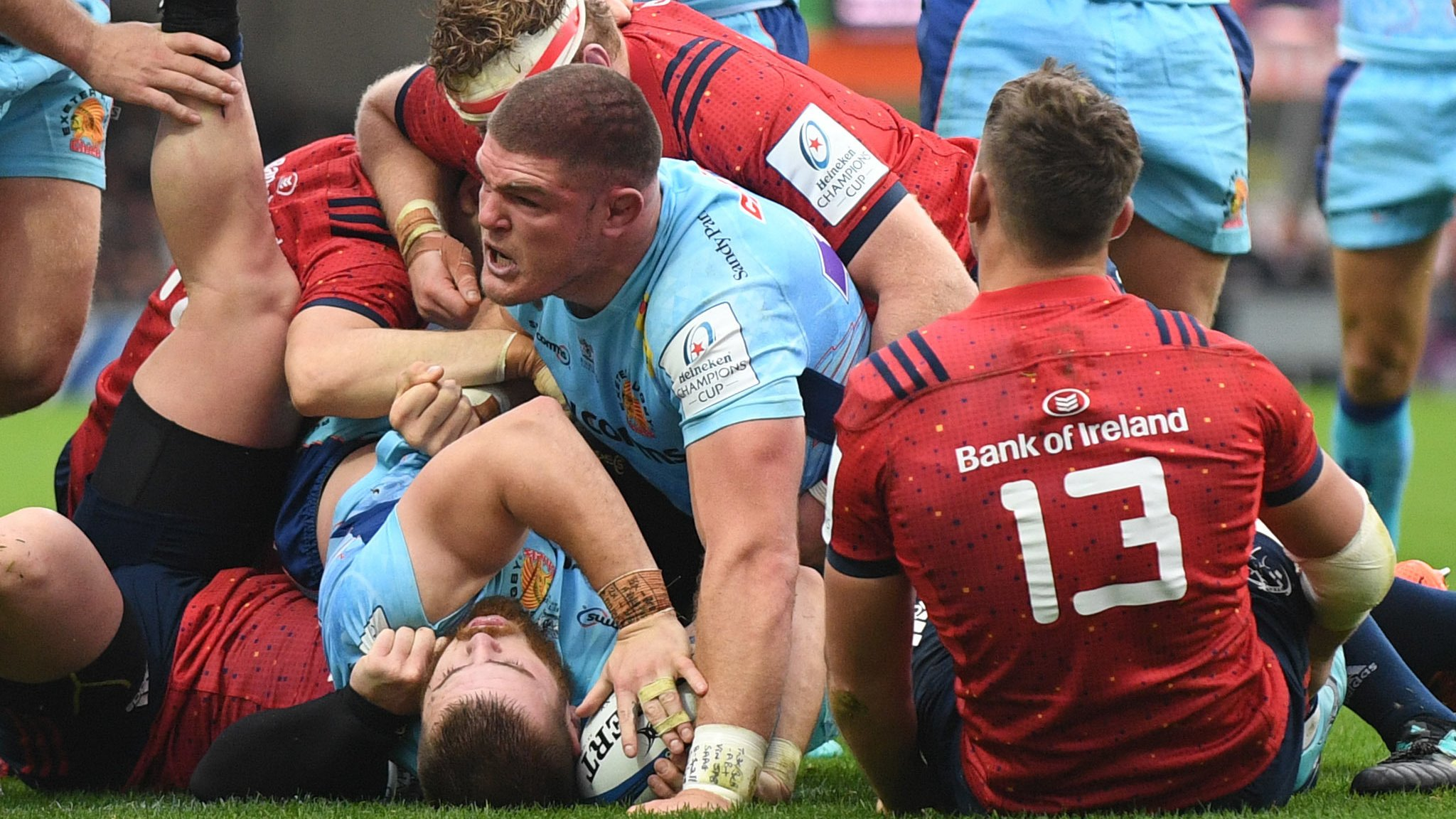 European Rugby Champions Cup: CJ Stander try earns Munster draw at Exeter