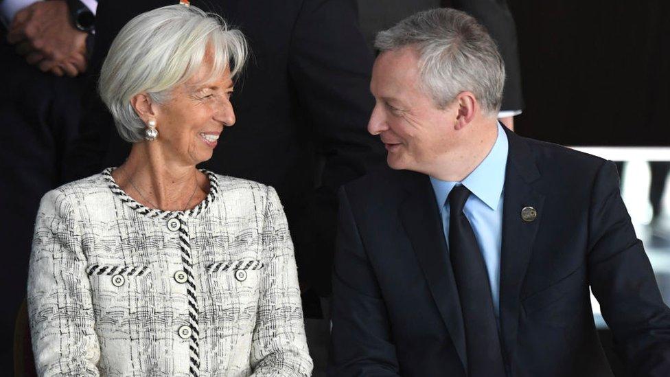 Christina Lagarde (izq.) y Bruno Le Maire