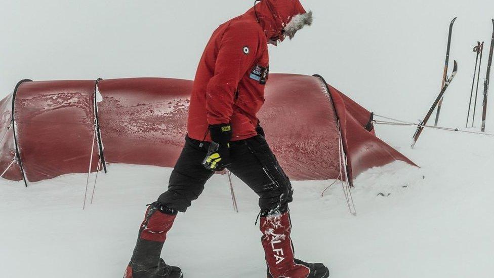 Capt Lou Rudd: Antarctic trek had 'a few hairy moments'