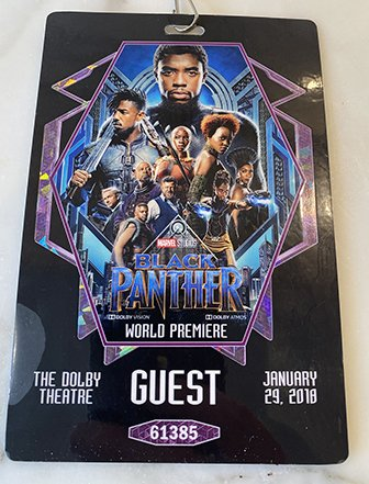 Black Panther premiere poster.