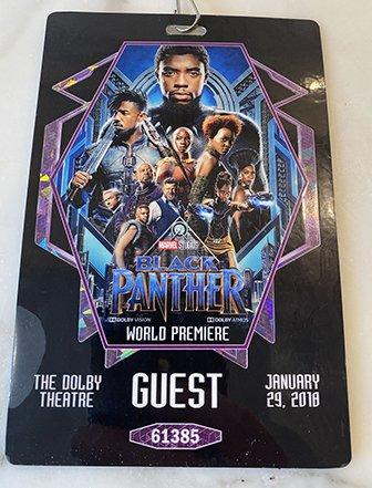 Afiche del estreno de Black Panther.