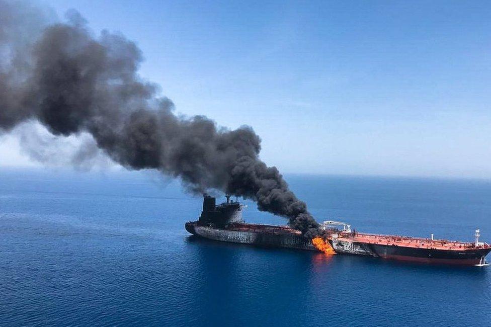 هجوم على ناقلة نفط في بحر عمان