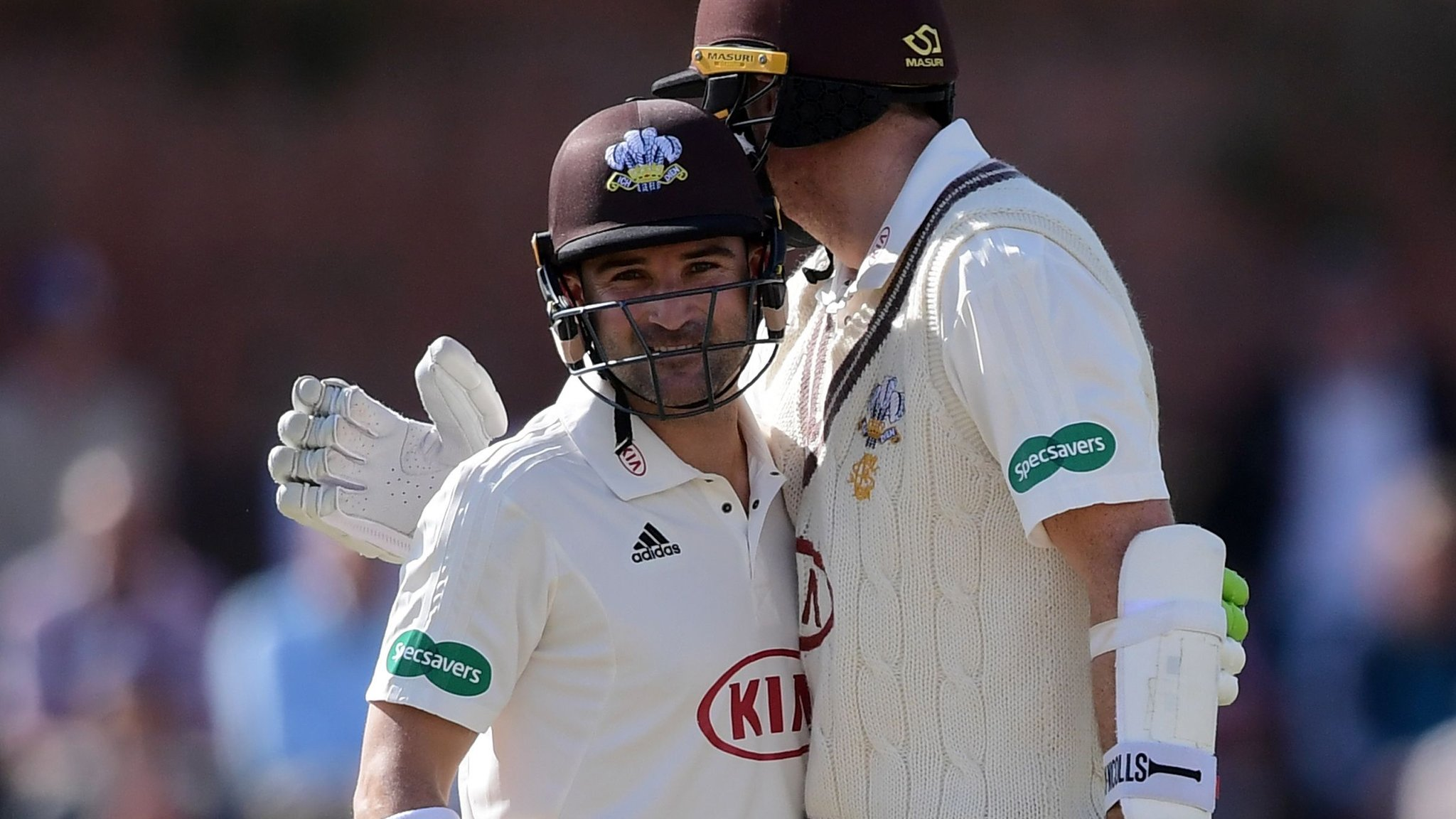 County Championship: Dean Elgar puts Surrey on top against Somerset