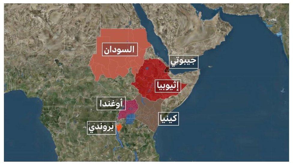 الدول المجاورة لإثيوبيا والتي وقعت معها مصر على اتفاقيات مؤخراً