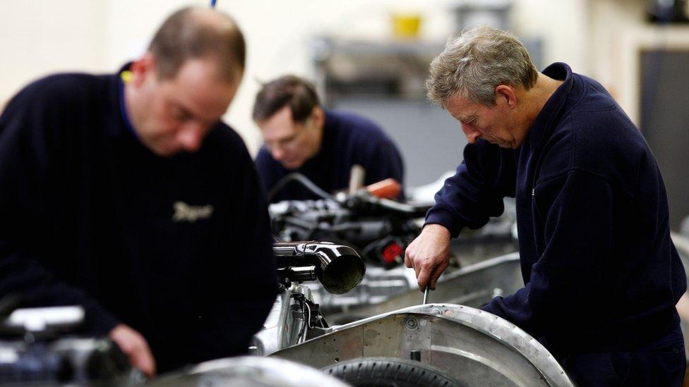Men working in a factory