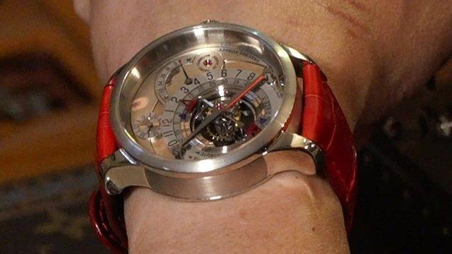 An expensive Swiss watch