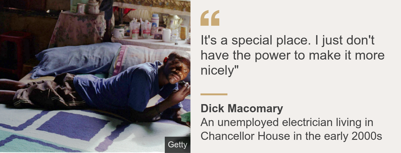 """Quote card.  Dick Macromery: """"This is a special place.  I do not have the power to make it any better"""""""