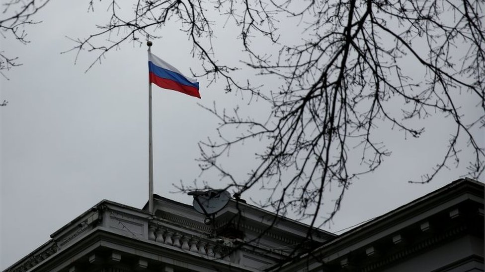 The Russian consulate general in Seattle, which has been closed in a diplomatic dispute, 28 March 2018