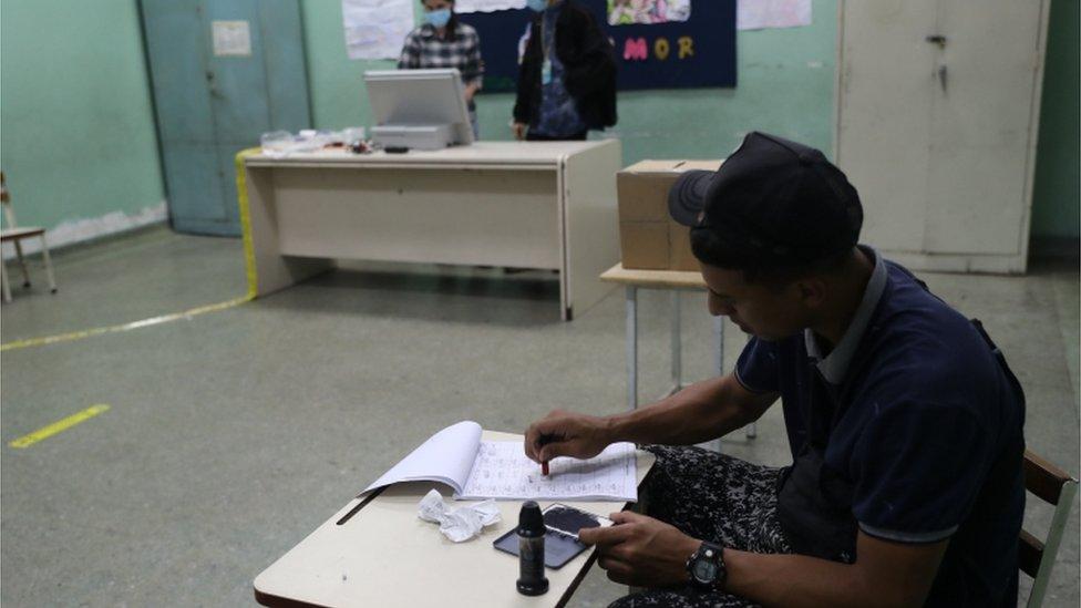Centro electoral en Venezuela