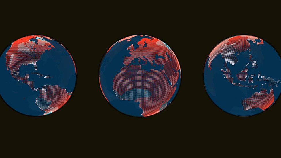 globes showing temperature rise promotional image