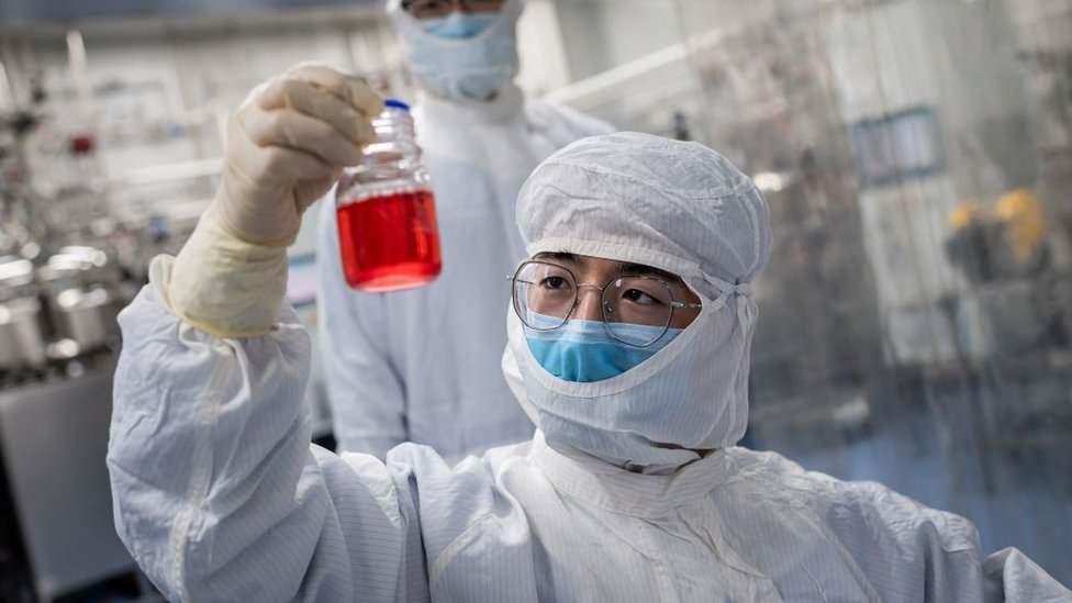 Chinese scientist testing vaccine
