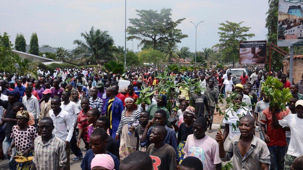 Protest in Bujumbura on October 8, 2016