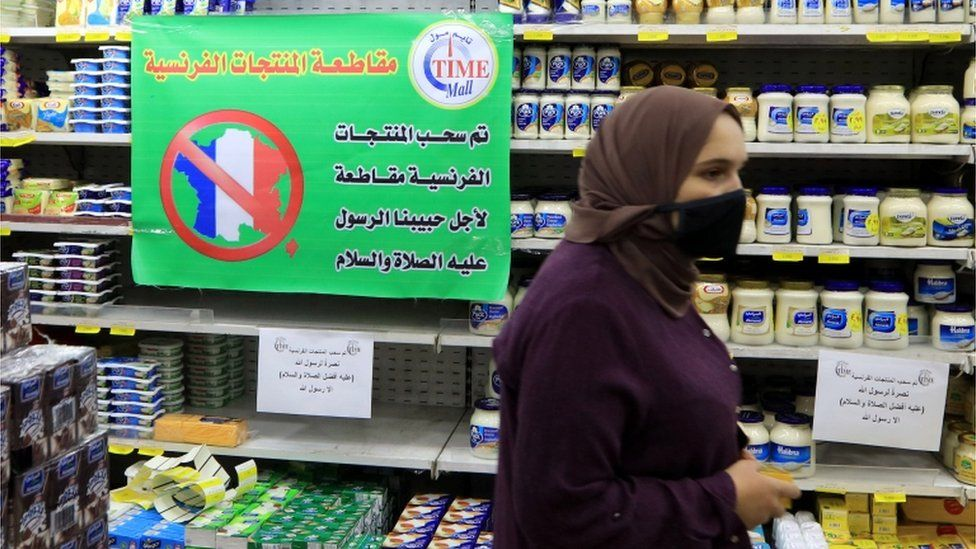 Seruan boikot produk Prancis di Yordania