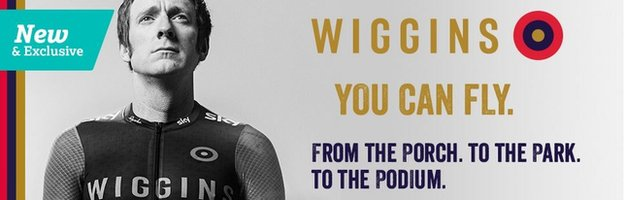 Advertisement for Wiggins brand bicycles