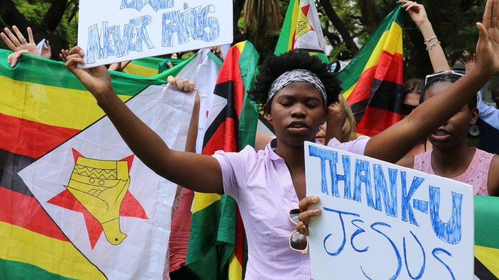 Celebrations in Zimbabwe as Zanu-PF sacks Mugabe as their leader