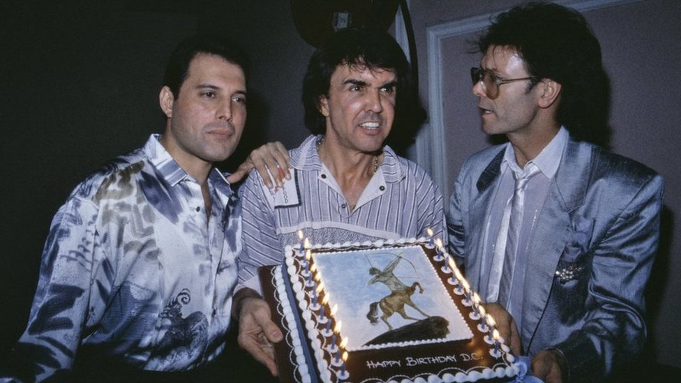 Freddie Mercury, Dave Clark y Cliff Richard