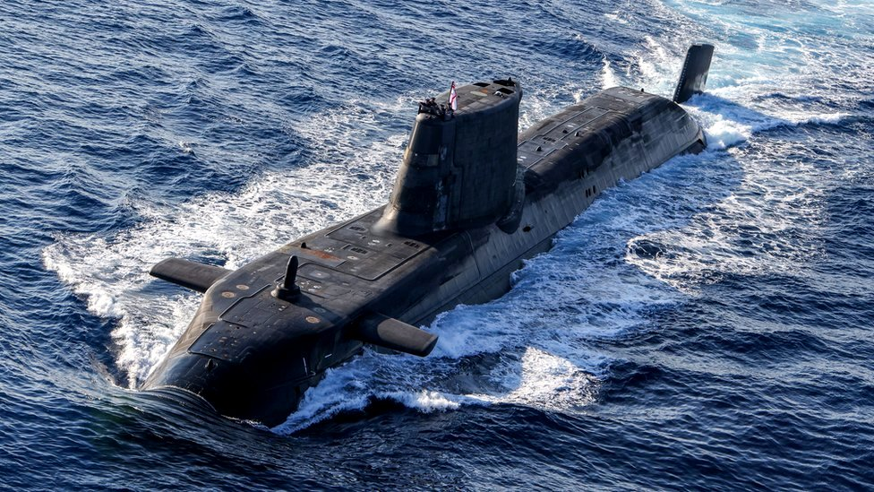 Un submarino nuclear británico
