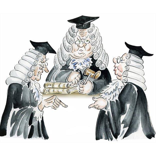 Jueces británicos discutiendo