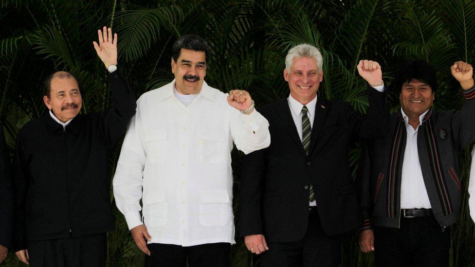 Ortega Maduro Miguel Díaz-Canel Evo morales