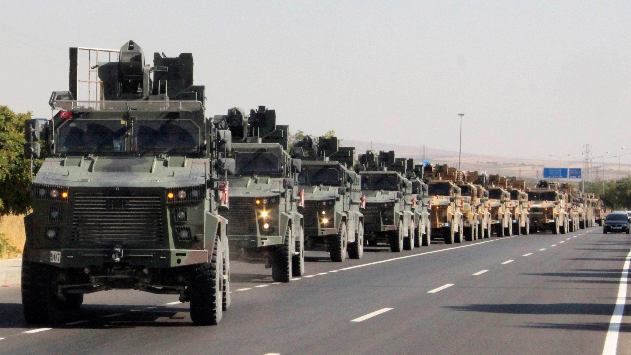 قافلة عسكرية تركية