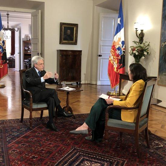 Piñera en entrevista con la BBC