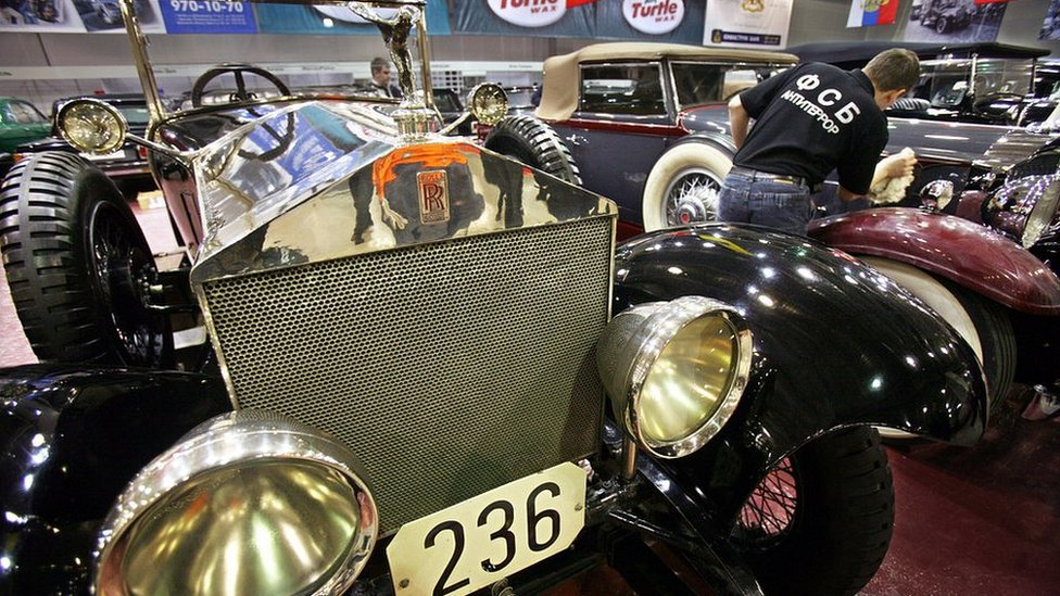 Russian FSB vintage car collection, including 1922 Rolls Royce Silver Ghost, Mar 2007